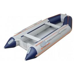 Čln Kolibri KM-330 D šedo-modrý, hliníková podlaha