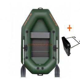 Čln Kolibri K-220 T  lamelová podlaha + držiak motora