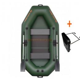 Čln Kolibri K-240 T  lamelová podlaha + držiak motora
