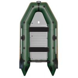 Čln Kolibri KM-330 D zelený, hliníkova podlaha