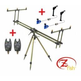 Zfish Stojan Tripod Select 3 Rods + 2x Bite Alarm NGT VX1 + 2x Swinger Extra Carp FREE!