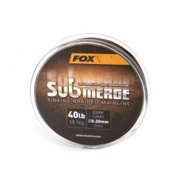 Fox Submerge™ Sinking Braided Mainline - Dark Camo 25lb/0.16mm 300m