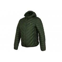 Fox Fox Collection quilted Jacket Green / Silver - XXXL