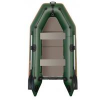 Čln Kolibri KM-260 D zelený, nafukovací  kýl, pevná podlaha