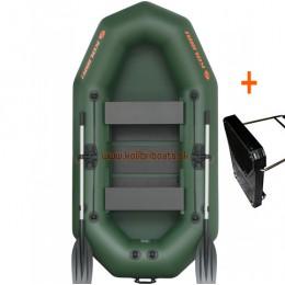 Čln Kolibri K-250 T profi, lamelová podlaha + držiak motora