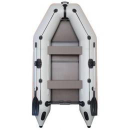 Čln Kolibri KM-245 D šedý, nafukovací kýl, pevná podlaha