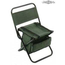 MIKADO Rybárska stolička s vakom 008 - zelená