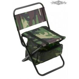 MIKADO Rybárska stolička s vakom 008 - kamufláž