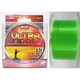 Asso vlasec Ultra Cast 300 m - fluo zelená 0,26 mm