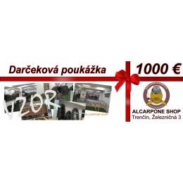 Darčeková poukážka - 1000 €