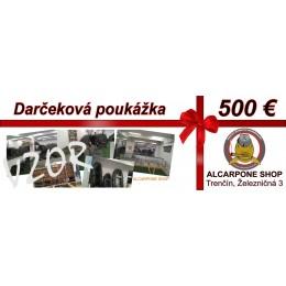 Darčeková poukážka - 500 €