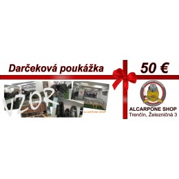 Darčeková poukážka - 50 €