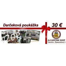 Darčeková poukážka - 30 €