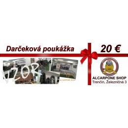 Darčeková poukážka - 20 €