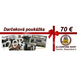 Darčeková poukážka - 70 €