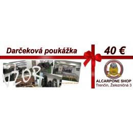 Darčeková poukážka - 40 €