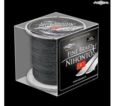 MIKADO NIHONTO FINE BRAID DARK - 300M 14,40 kg šedo-čierna 0,18mm