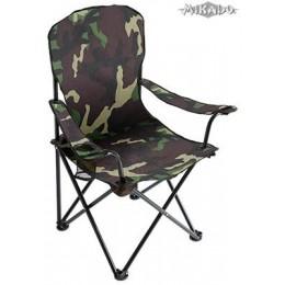 Mikado Rybárska stolička s opierkami - kamufláž