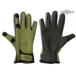 Mikado Rybárske neoprénové rukavice - zelené