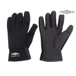 Mikado Rybárske neoprénové rukavice - čierne