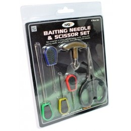 NGT Sada 6 ks Baiting Needle & Scissor Set