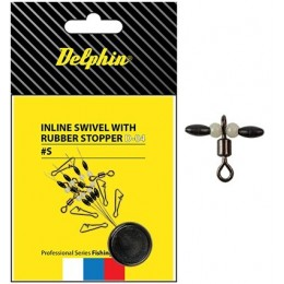 Delphin Inline swivel with rubber stopper