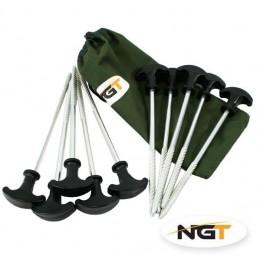 NGT zavrtávací kolík na bivak - 10 ks
