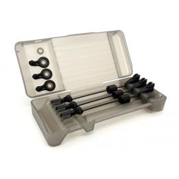FOX Black label Mini Swinger Presentation Set - 3 Rod BLACK