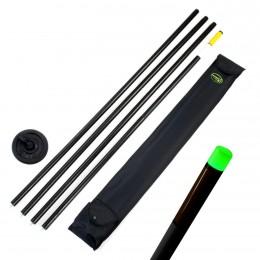 HOLDCARP Tyčová bójka 10m, automatické svetlo - zelené