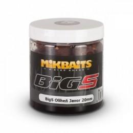 Mikbaits Big S - Oliheň-Javor- Boilie v dipe - 250ml - 20mm