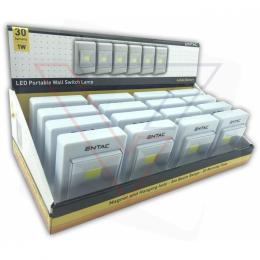 ENTAC Svietidlo prenosné nástenné 1W COB (prez.box