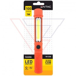 ENTAC Svietidlo pracovné magnetické 1W Pero oranžo