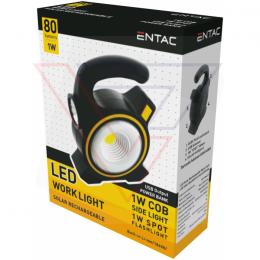 ENTAC Svietidlo pracovné 1W dobíjateľné/solar